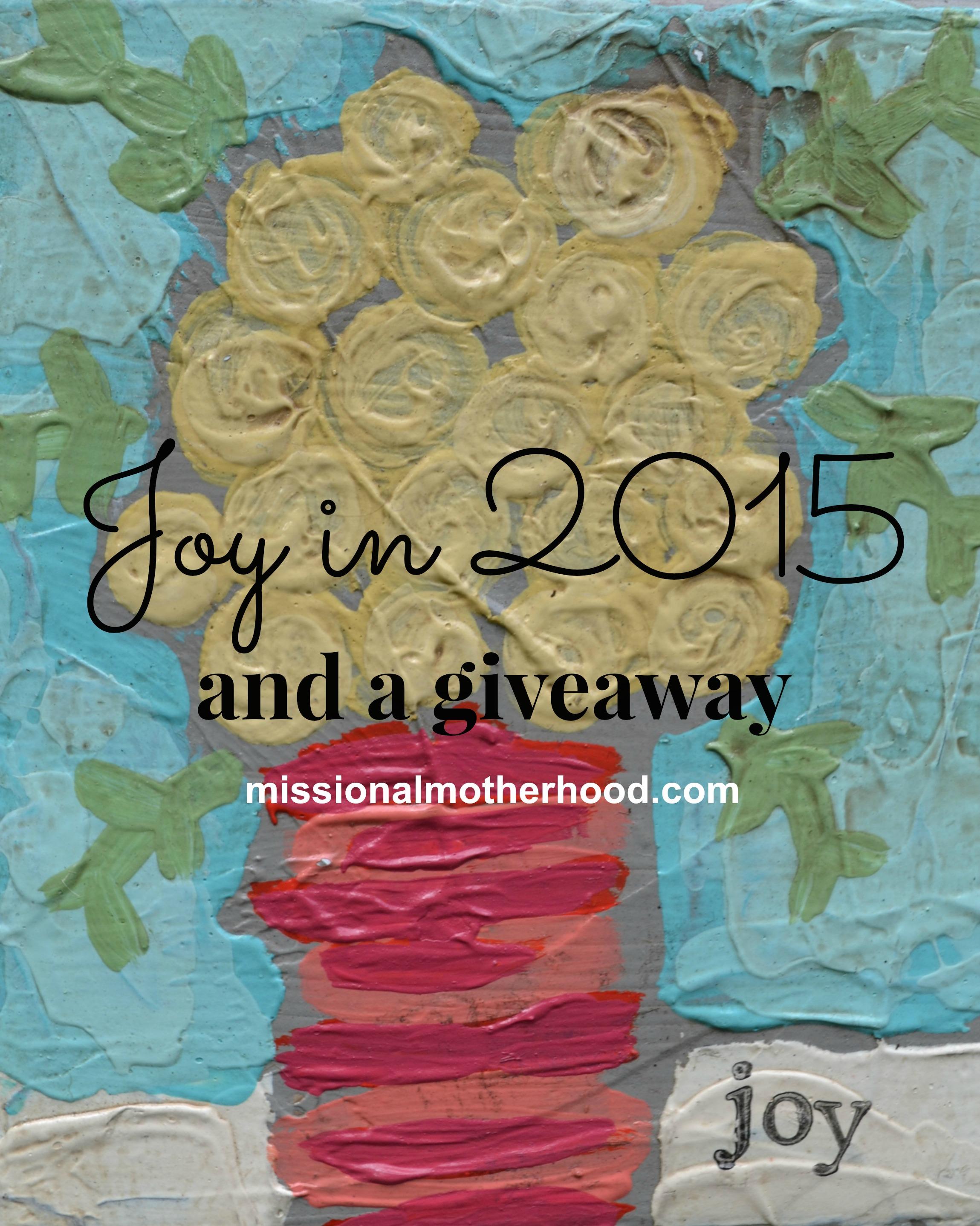 Joy in 2015