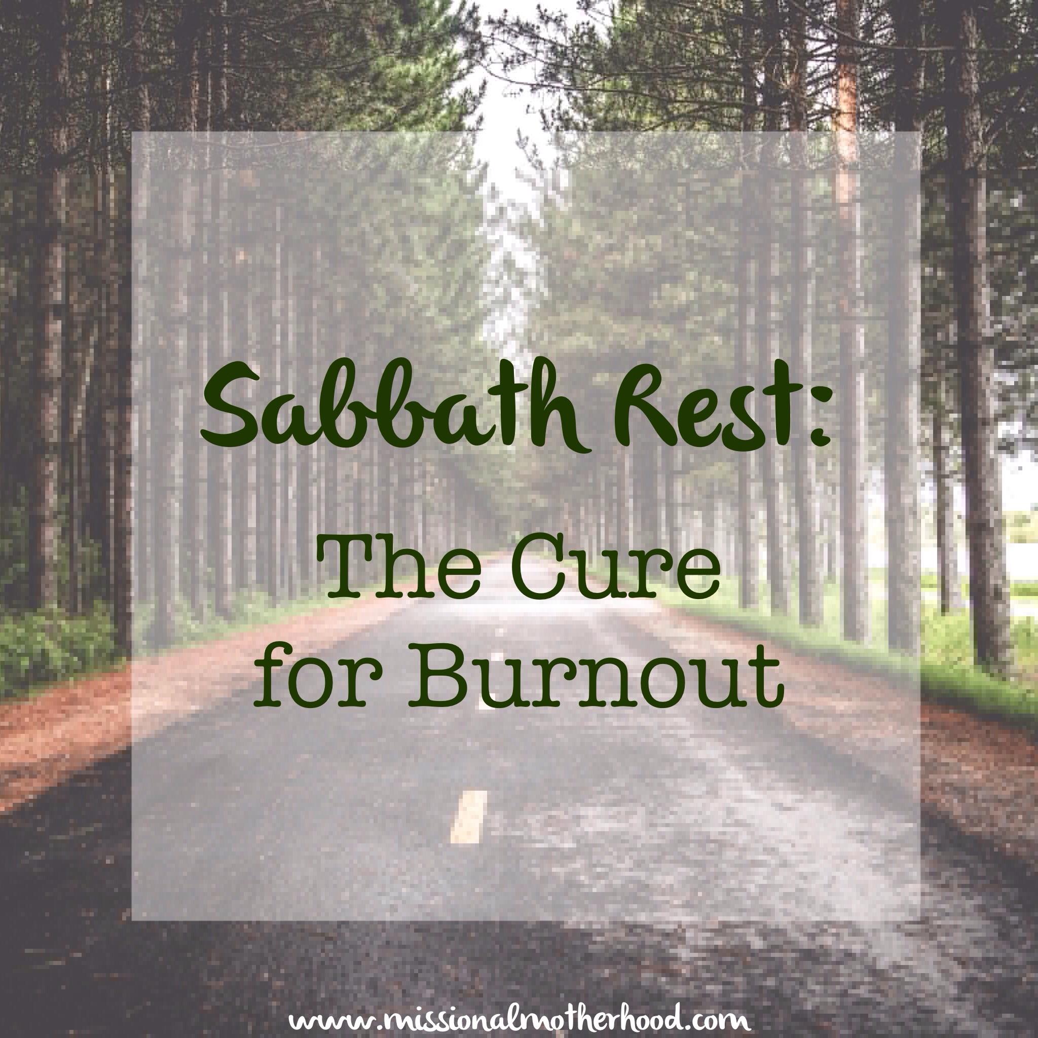 Sabbath Rest: The Cure...