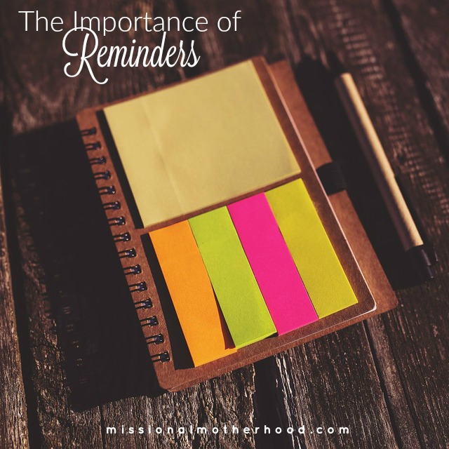 The Importance of Reminders