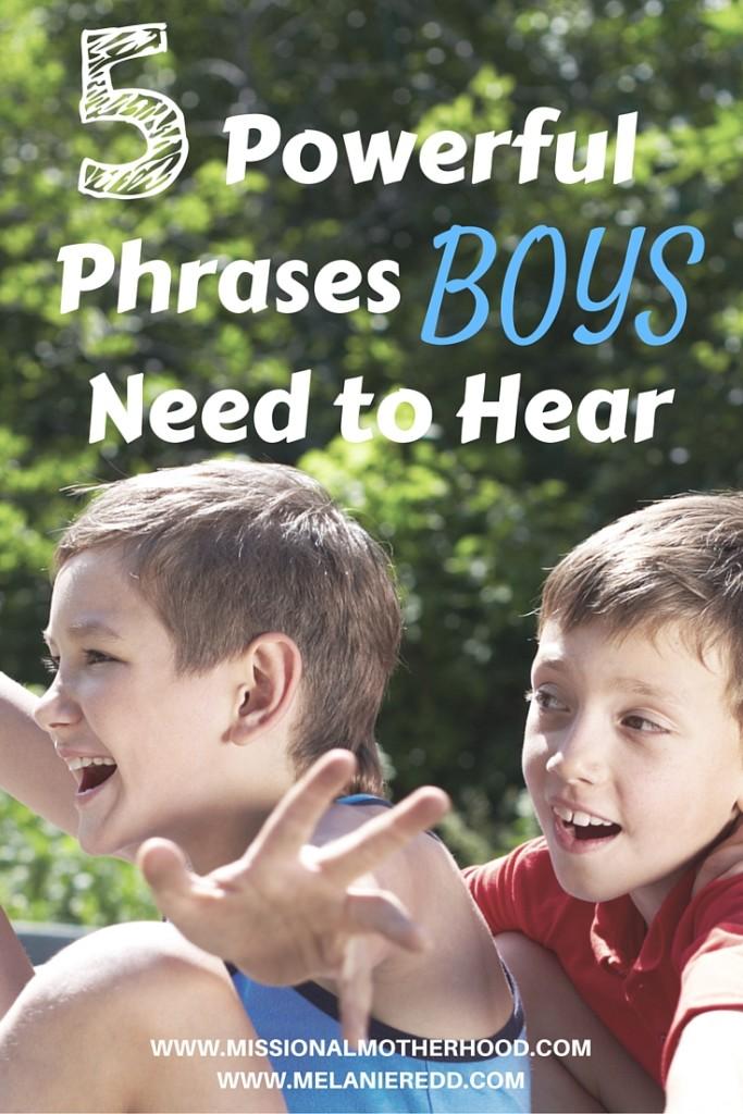 5 Powerful Phrases for Boys